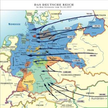 Flucht Und Vertreibung 1945 Karte